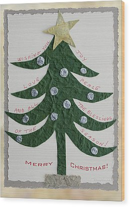Wood Print featuring the photograph Blessing Tree by Terri Harper
