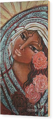 Blessings Of The Magdalene Wood Print by Maya Telford