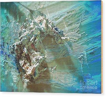 Bleu Comme Le Danube Wood Print