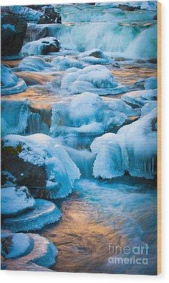 Blewett Pass Creek Wood Print by Inge Johnsson