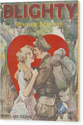 Blighty 1918 1910s Uk First Issue Ww1 Wood Print by The Advertising Archives