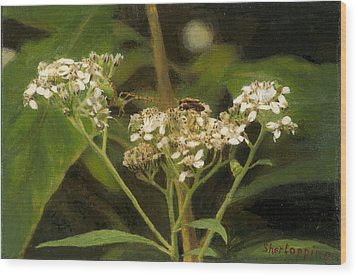 Blind Love Wood Print by Sherryl Lapping