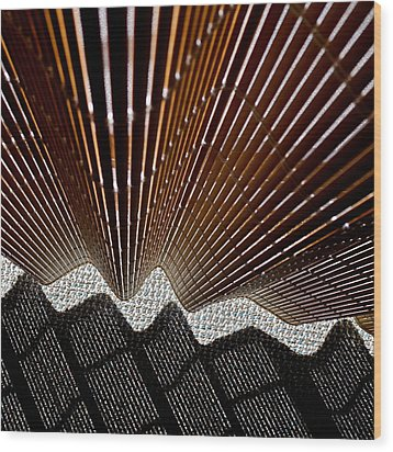 Blind Shadows Abstract I I I Wood Print by Kirsten Giving