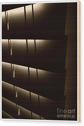 Blinds Wood Print by Jeff Breiman