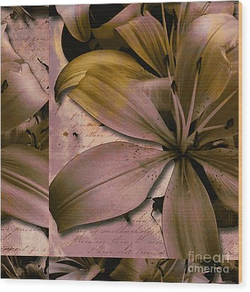 Bliss Wood Print by Yanni Theodorou