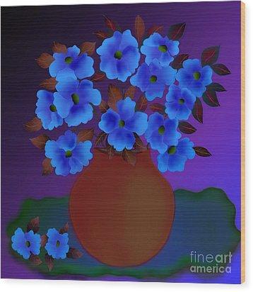 Wood Print featuring the digital art Blissful by Latha Gokuldas Panicker