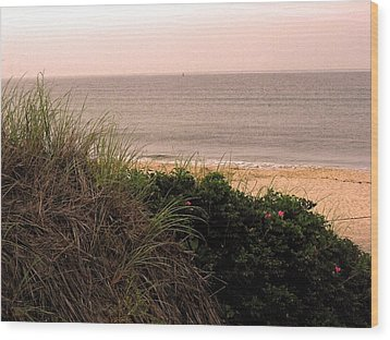 Wood Print featuring the photograph Block Island Beach by Dawn Romine