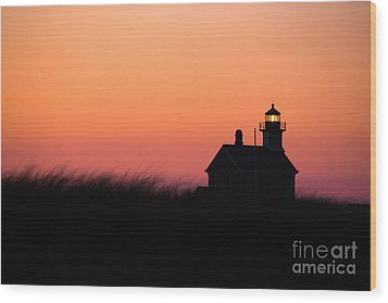 Block Island North Lighthouse Wood Print by Diane Diederich