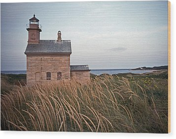 Block Island North West Lighthouse Wood Print by Skip Willits