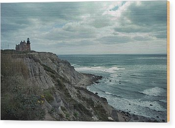 Block Island South East Lighthouse Wood Print by Skip Willits
