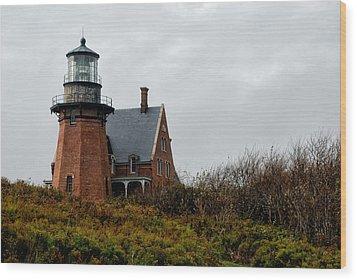 Block Island Southeast Lighthouse Wood Print by Nancy De Flon