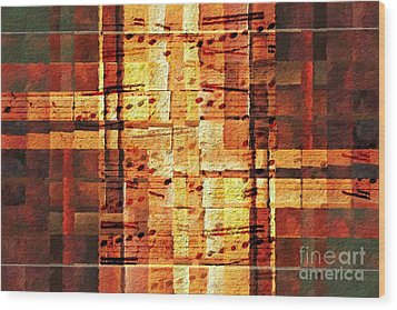 Wood Print featuring the digital art Block Party by Lon Chaffin
