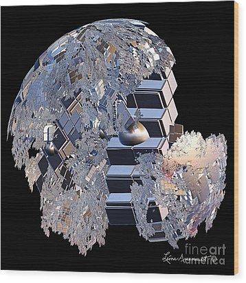 Blockhead Wood Print