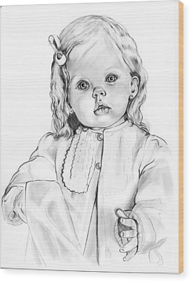 Blonde Doll Wood Print