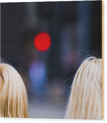 Blondes Are Not Allowed 2 - Featured 3 Wood Print by Alexander Senin