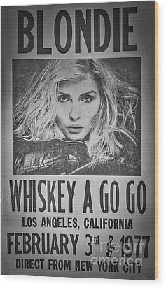Blondie At The Whiskey A Go Go Wood Print