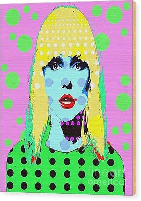 Blondie Wood Print by Ricky Sencion