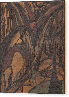 Blood And Rage Wood Print