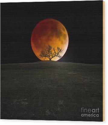 Blood Moon Wood Print by Aaron J Groen