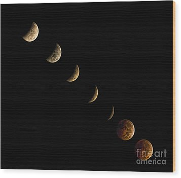 Blood Moon Wood Print by James Dean