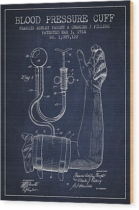 Blood Pressure Cuff Patent From 1914 Wood Print by Aged Pixel