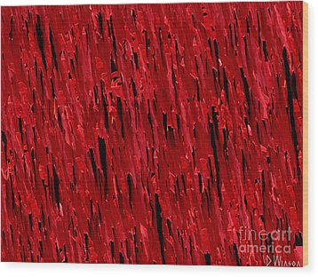 Blood Revenge-natural-imaginary Texture Wood Print by David Winson