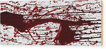 Blood Spatter Series Wood Print