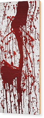 Blood Splatter II Wood Print