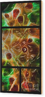 Blood Work Triptych Wood Print by Peter Piatt