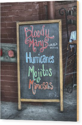 Bloody Marys Wood Print by Brenda Bryant