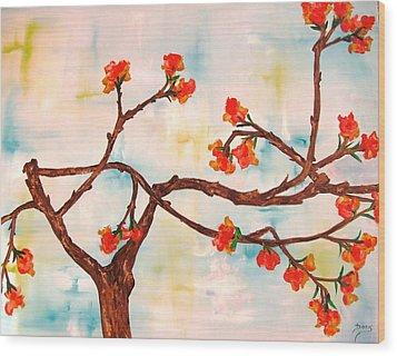 Bloom Wood Print by Doris Cohen