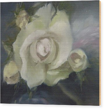 Wood Print featuring the painting Blooming Beautiful by Lori Ippolito