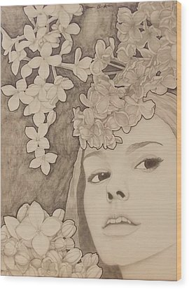 Blooming Girl Lilac  Refined Wood Print