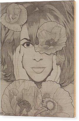 Blooming Girl Poppy Refined Wood Print