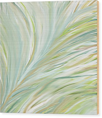 Blooming Grass Wood Print by Lourry Legarde