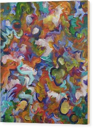 Wood Print featuring the painting Blooming Joy by Lynda Lehmann