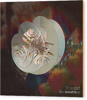 Blooming Spiral Wood Print