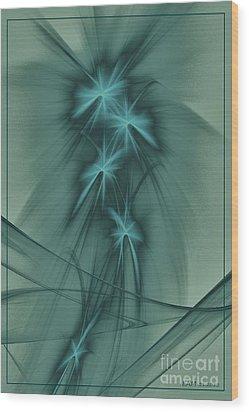Blooming Stars 2 Wood Print by Elizabeth McTaggart