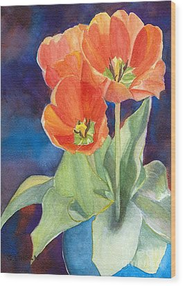 Blooming Tulips Wood Print by Sandy Linden