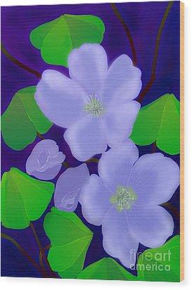 Wood Print featuring the digital art Blooms Of Good Luck by Latha Gokuldas Panicker