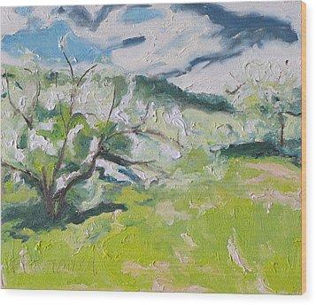 Blossom Wood Print by Francois Fournier