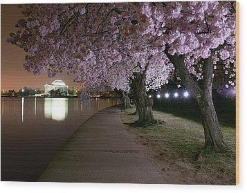 Blossom Night Fever Wood Print by Bernard Chen