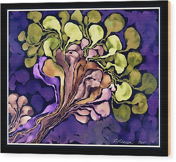Blossom Of Spring    Purple Wood Print by Cathy Peterson
