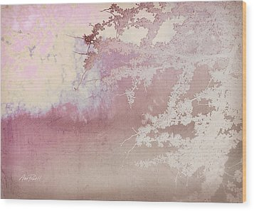 Blossoming Red Bud In Pink  Wood Print by Ann Powell