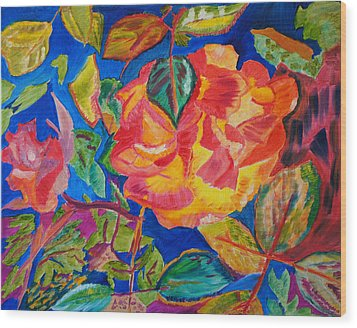 Blossoms Aglow Wood Print by Meryl Goudey