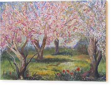 Blossomtime Wood Print by Jacqueline Pearson