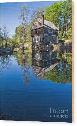 Blow Me Down Mill Cornish New Hampshire Wood Print by Edward Fielding