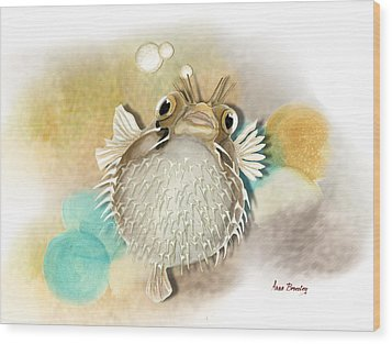 Blowfish Wood Print