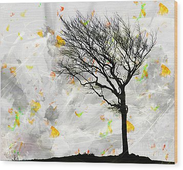Blowing It The Wind Wood Print by Edmund Nagele