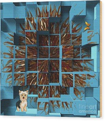 Blowout Wood Print by Liane Wright